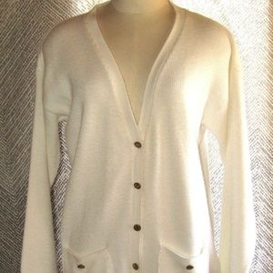 Sweaters - Vintage A Sweet Tree White Button Up Cardigan